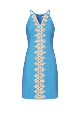 Pearl Blue and Gold Shift by Lilly Pulitzer