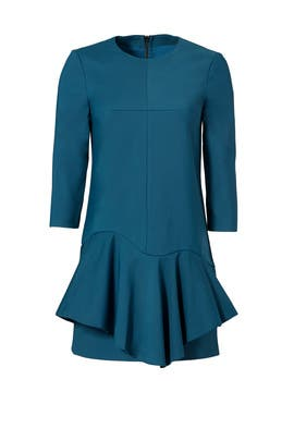 Agathe Ruffle Dress by Tibi