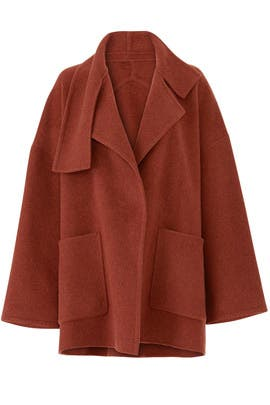 Oversized Wool Blanket Coat by VINCE.