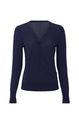 Navy Surplice Sweater by Halogen