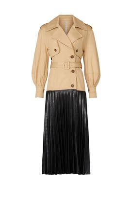 Dakota Faux Leather Trench Coat by Jonathan Simkhai