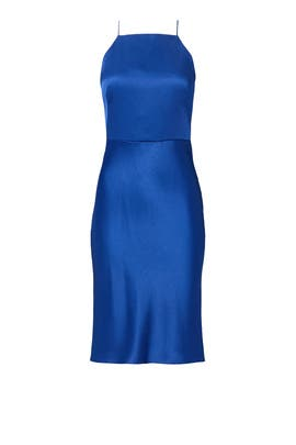 Cobalt Skinny Halter Dress by Jason Wu Collection