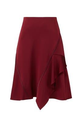 Garnet Asymmetrical Skirt by Jason Wu