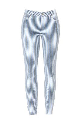 Striped Verdugo Crop Jeans by PAIGE