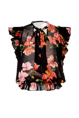 Sheer Floral Babette Blouse by PINKO