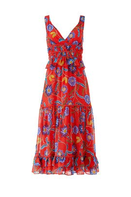 Red Floral Lucy Dress by Rebecca Minkoff