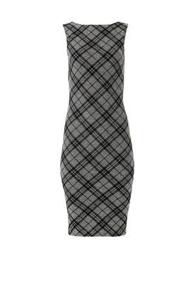 Knit Plaid Sheath By Slate Willow