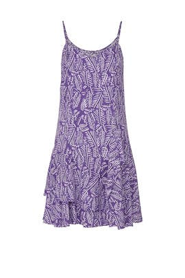 Purple Palm Print Dress by Thakoon Collective