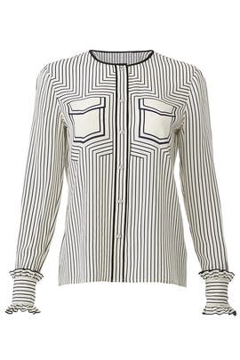 Wendy Faux Pocket Shirt by Tory Burch