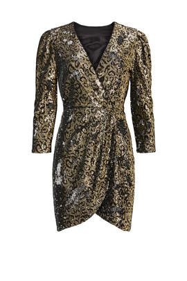 Leopard Sequin Selene Dress by ASTR