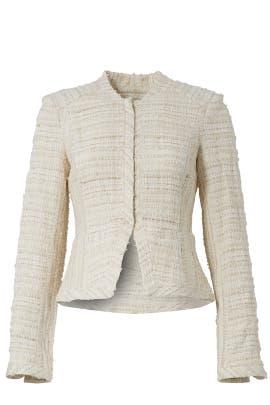 Cream Cropped Jacket by Derek Lam 10 Crosby
