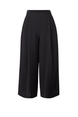 Black Holly Crepe Culottes by Diane von Furstenberg