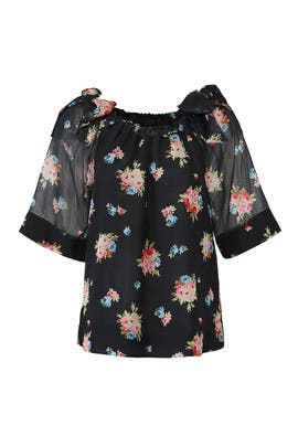 Bouquet Floral Top by ella moss