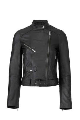 Classic Black Leather Jacket by Slate & Willow