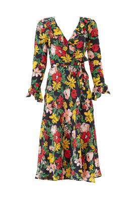 Floral Midi Wrap Dress by Tara Jarmon
