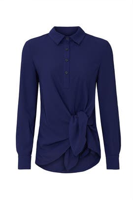 Long Sleeve Tie Front Shirt by Thakoon Collective