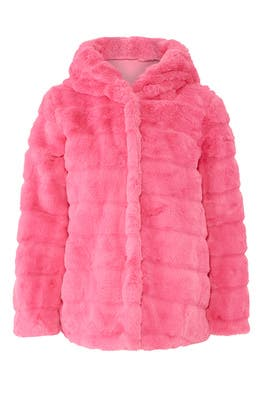 Fuchsia Goldie Faux Fur Coat by Apparis