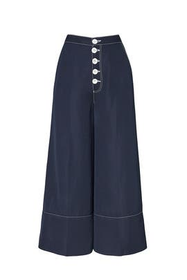 Navy Stitch Culottes by Perseverance London