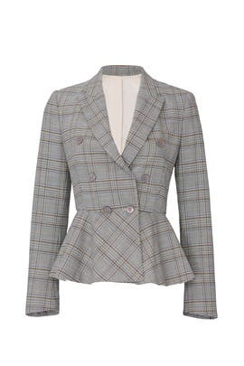 Plaid Peplum Jacket by Rebecca Taylor