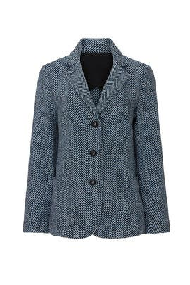 Blue Herringbone Jacket by Fifteen Twenty