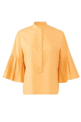 Pleated Poplin Shirt by Genny