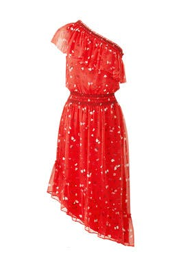 Red Floral Hafsa Dress by Joie