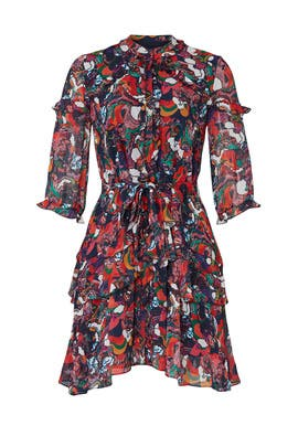 Printed Tilly Ruffle Dress by SALONI