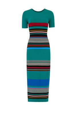 Striped Sweater Dress by Diane von Furstenberg