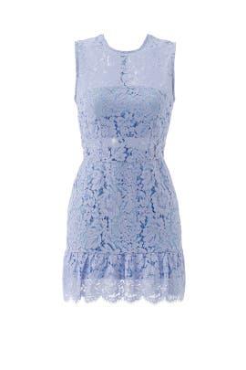 Periwinkle Felicia Lace Mini Dress by Karina Grimaldi