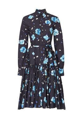 Floral Long Sleeve Shirtdress by Marni