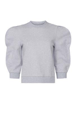 Scallop Sweatshirt by Tibi
