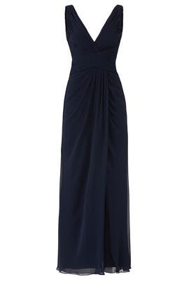 Navy Antonia Gown by WATTERS