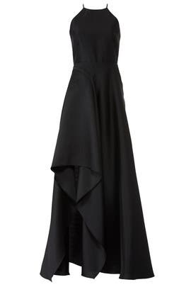 Black Sculptural Gown by Badgley Mischka