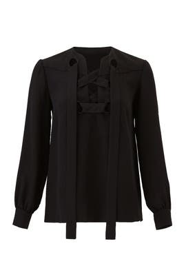 Sara Lace Up Blouse by DEREK LAM