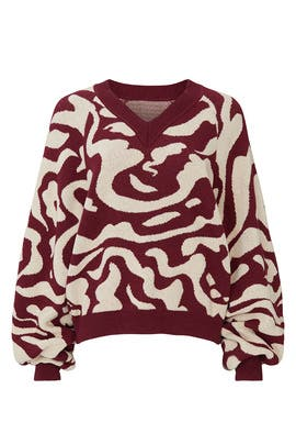 Abstract Devon V-Neck Sweater by Nanushka