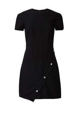 Black Barbara Button Dress by Rebecca Minkoff