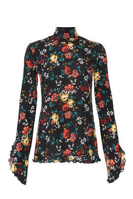 Floral Open Back Blouse by DEREK LAM