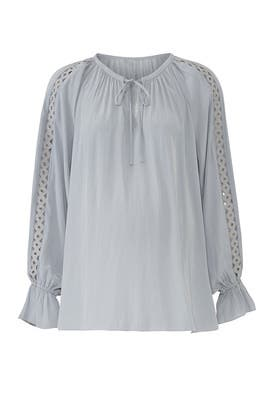 Silver Trace Maternity Top by FOR 2 by Ramy Brook