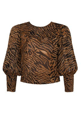 Tiger Print Blouse by GANNI