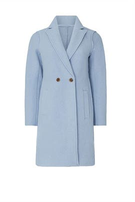 Mountain Blue Daphne Topcoat by J.Crew