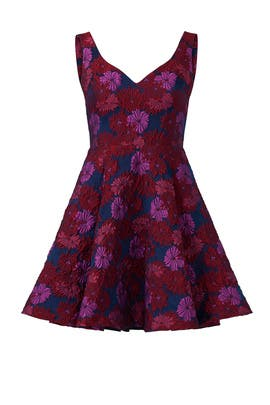 Wildflowers Sweetheart Dress by Nicole Miller