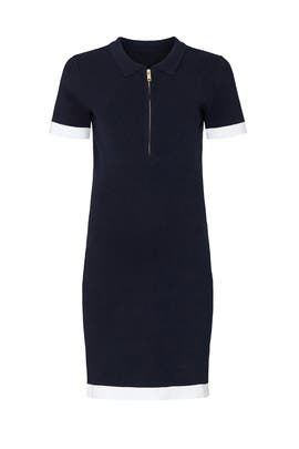 Zip Front Polo Maternity Dress by ripe