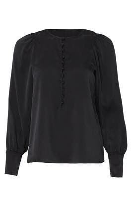 Long Sleeve Silk Charm Top by Rebecca Taylor