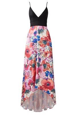Bright Floral Gown by Badgley Mischka