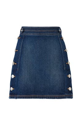 The Denim Ballast Skirt by Current/Elliott