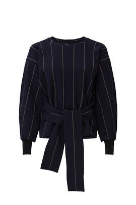 Striped Tie Belt Pullover by 3.1 Phillip Lim