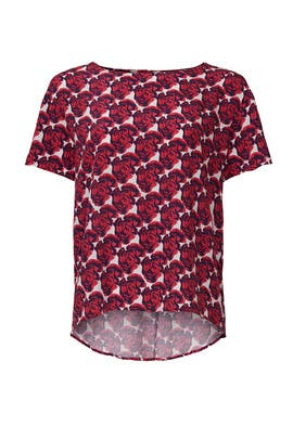 Floral Pop Art Blouse by Peter Som Collective
