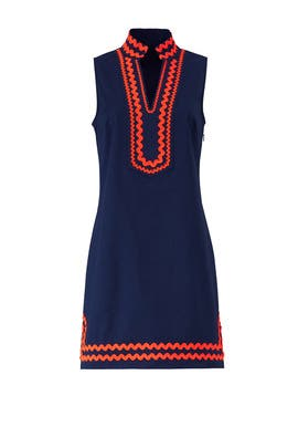 Orange Trim Ric Rac Dress by Sail to Sable