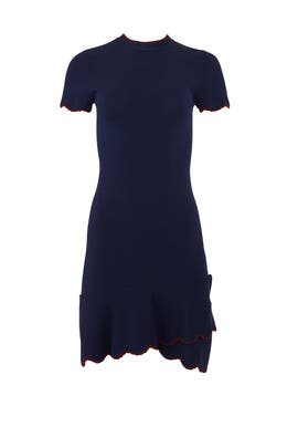 Navy Pine Dress by Shoshanna