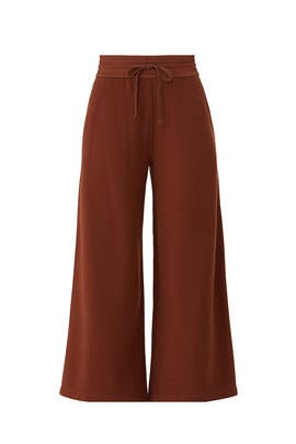 Rust Cropped Knit Culotte by VINCE.